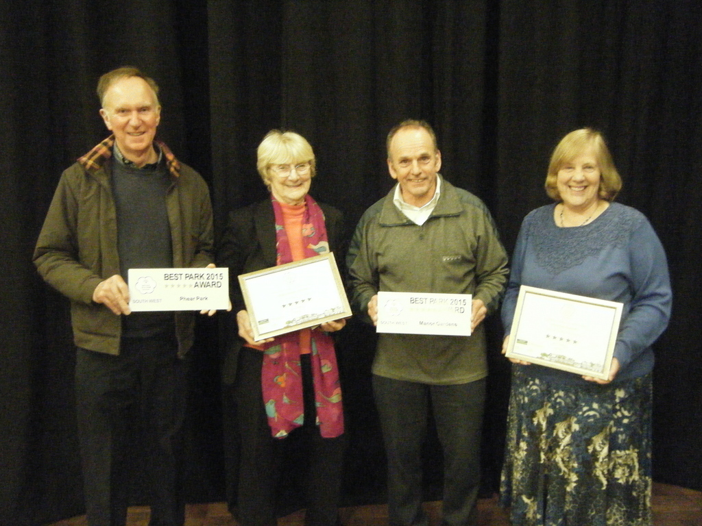 Mike, Pat, Mike & Ann with 2 awards