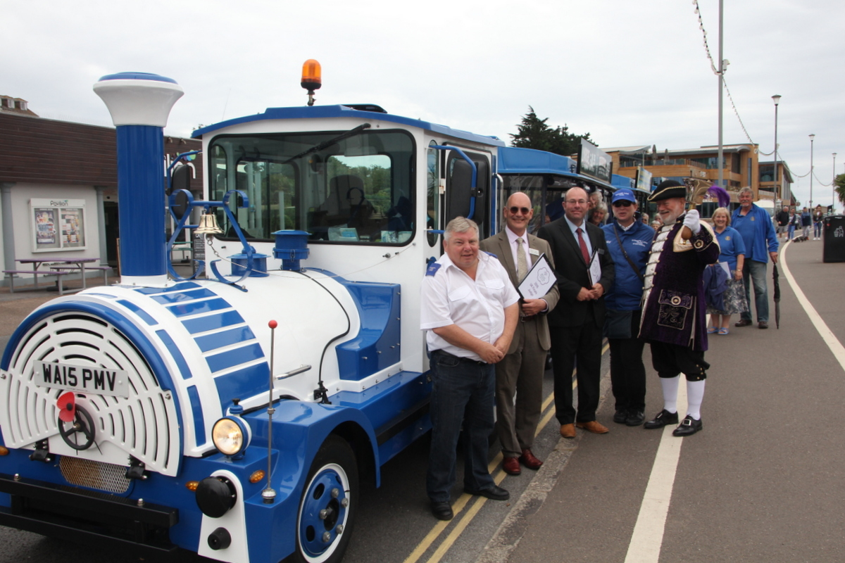 Judges with the Land Train