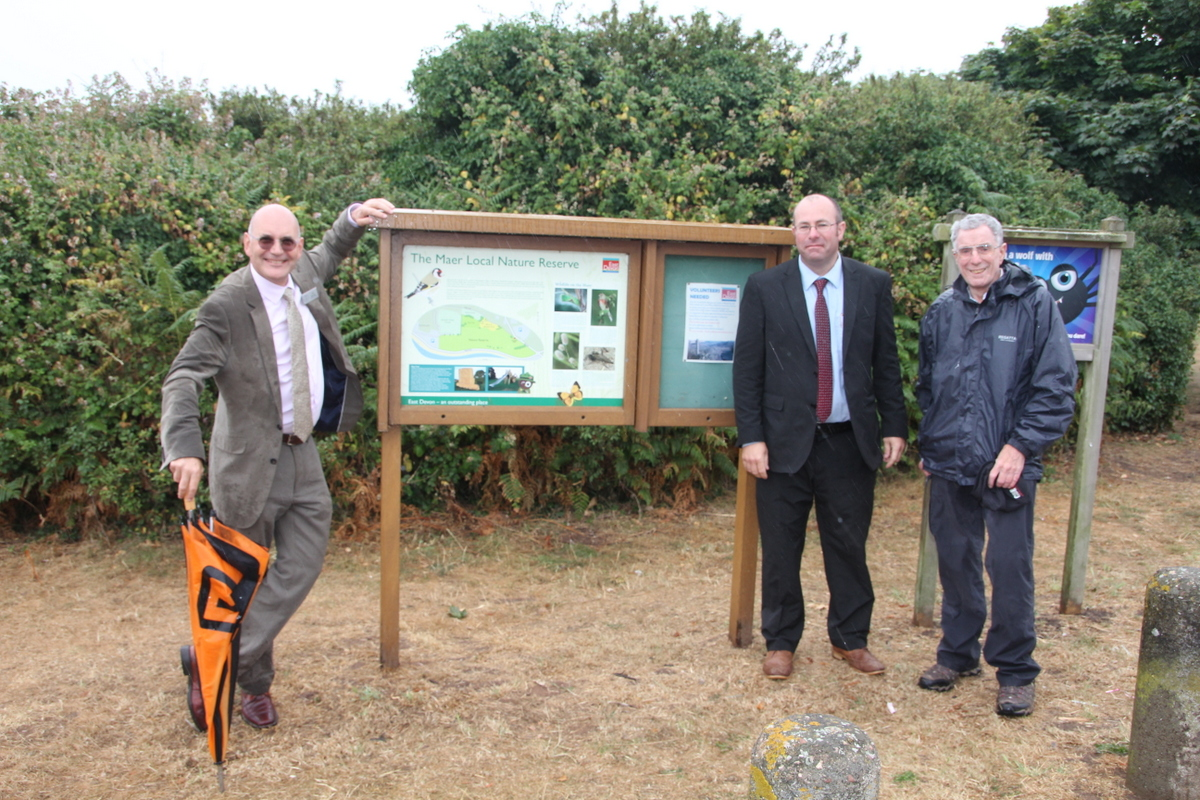 At the Maer with Roger Hamlin of Devon Wildlife Trust