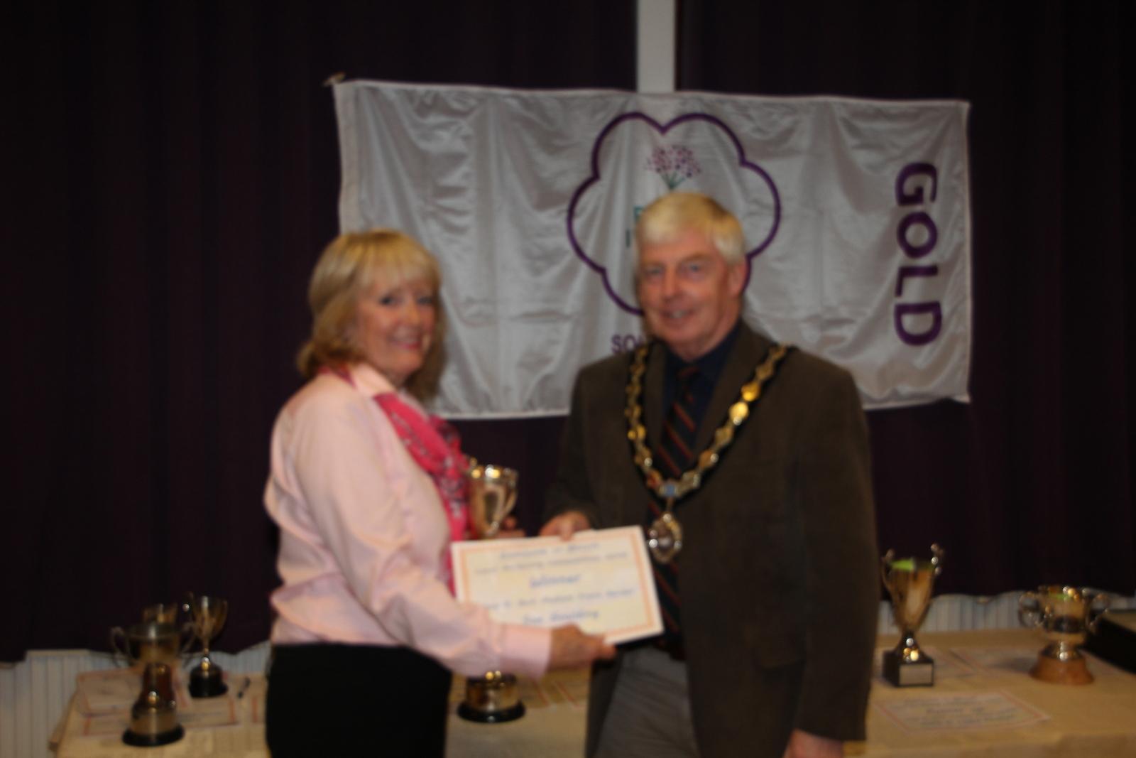 Sue Goulding, winner of best medium front garden