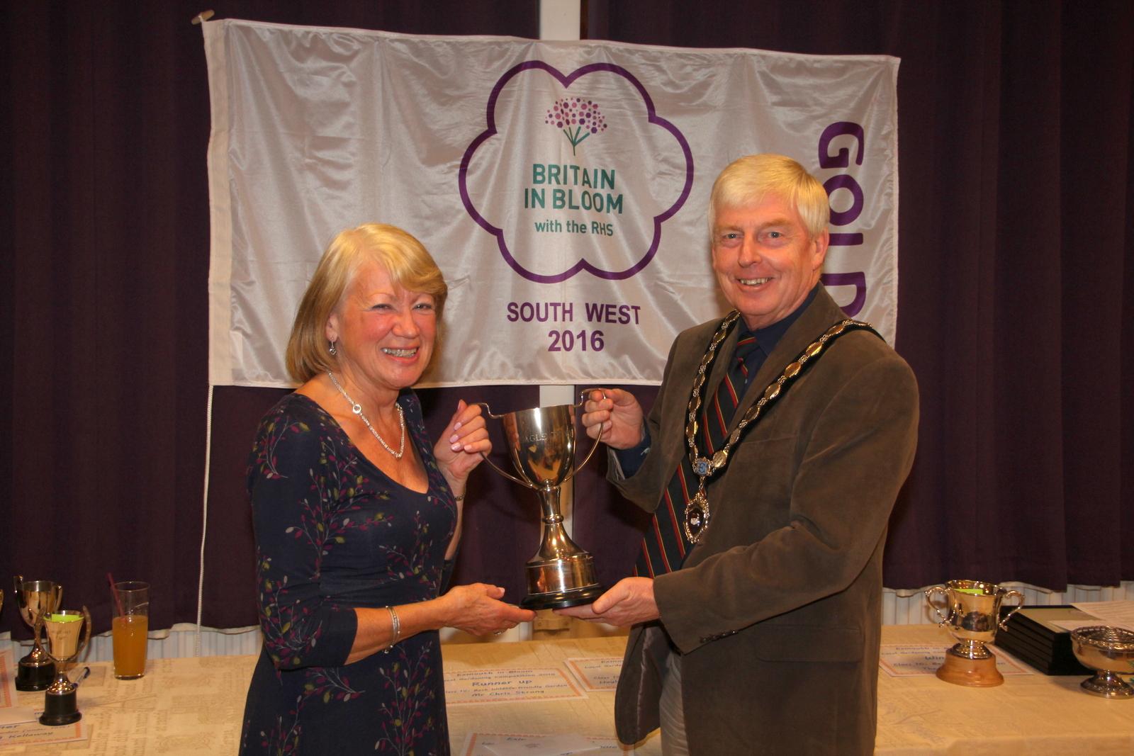 Tricia Bass, winner of best rear garden