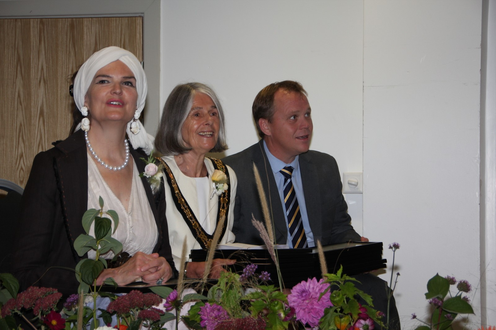 Lady Emma Fellowes. Mayor of Taunton, Terry Doyle, sponsor